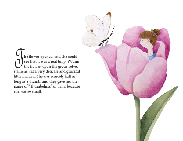 Thumbelina book spread