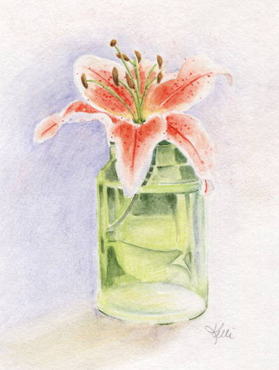 Lily in Glass Jar