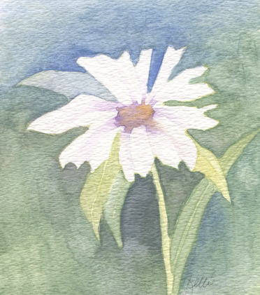 Daisy in Negative Painting