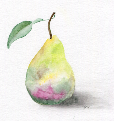Golden Yellow Pear