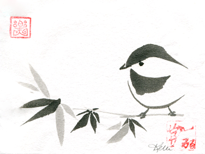 Bamboo Birds - Chickadee