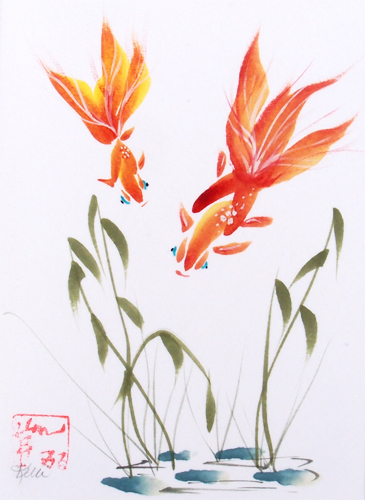 Goldfish - Chinese Brush