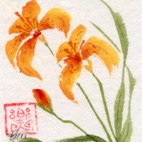 Tiger Lily with Joy mood seal